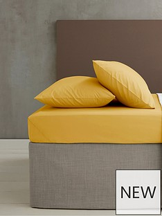 catherine-lansfield-non-ironnbspdouble-fitted-sheet-ndash-ochre