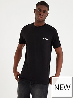 nicce-chest-logo-t-shirt-black