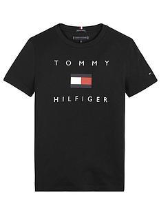 tommy-hilfiger-boys-short-sleeve-logo-t-shirt-black