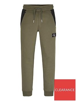 calvin-klein-jeans-boys-colourblock-jogger-olive