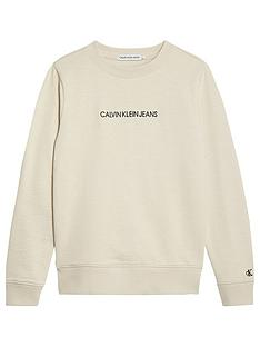 calvin-klein-jeans-boys-embroidered-logo-sweat-stone