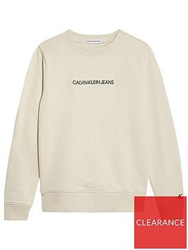 calvin-klein-jeans-boys-embroidered-logo-sweat-stone
