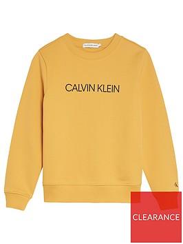 calvin-klein-jeans-kids-logo-crew-sweat-yellow