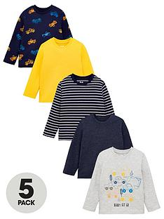 mini-v-by-very-boys-5-pack-truck-long-sleeve-t-shirts-multi