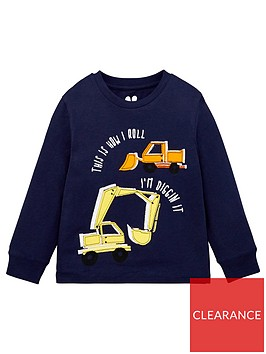 mini-v-by-very-boys-truck-applique-t-shirt-navy