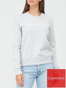 calvin-klein-jeans-institutional-sweat-top-grey-marl