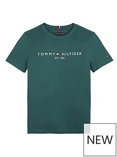 tommy-hilfiger-boys-short-sleeve-essential-logo-t-shirt-green