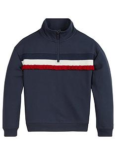 tommy-hilfiger-girls-ruffle-rib-half-zip-sweat-navy