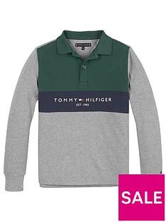 tommy-hilfiger-boys-long-sleeve-colourblock-polo-grey