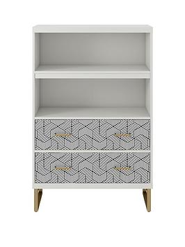 cosmoliving-by-cosmopolitan-scarlett-bookcase-with-drawers-white