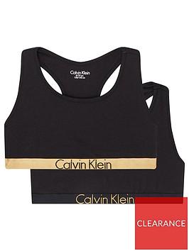 calvin-klein-girls-2-pack-gold-waistband-bralette-black