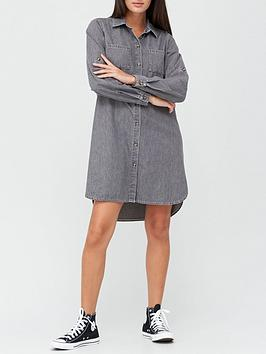 v-by-very-relaxed-denim-shirt-dress-washed-black