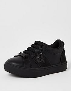 river-island-mini-mini-boys-embossed-trainers--nbspblack
