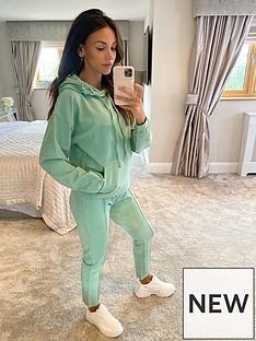 michelle-keegan-pocket-front-hoodie-co-ord-green