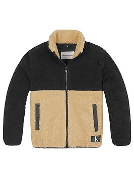 calvin-klein-jeans-boys-colourblock-teddy-fleece-black