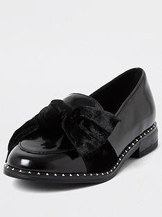 river-island-girls-studded-bow-loafer--nbspblack