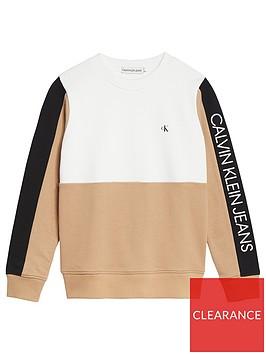 calvin-klein-jeans-boys-colourblock-logo-sweat-sand