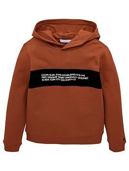 calvin-klein-jeans-boys-flock-logo-hoodie-cognac