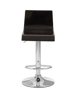 Premier Housewares Baina Bar Stool- Black/Silver