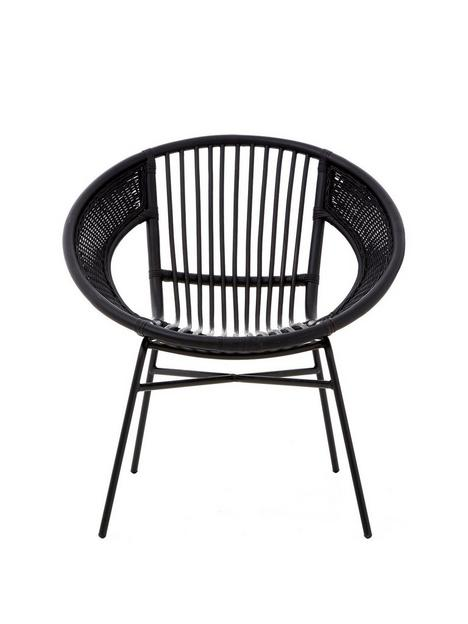 premier-housewares-lagom-black-rattan-chair