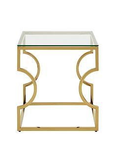 premier-housewares-allure-curved-lamp-table