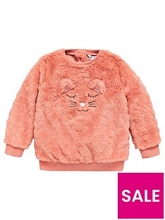 mini-v-by-very-girls-cat-applique-fluffy-sweatshirt-pink
