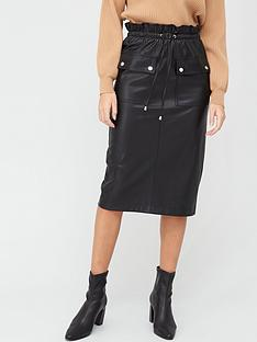 v-by-very-paperbag-waist-faux-leather-midi-skirt-black