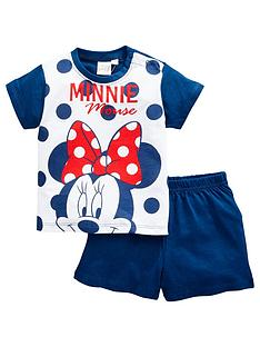 minnie-mouse-baby-girl-minnie-mouse-spotty-shortie-pjs-navy