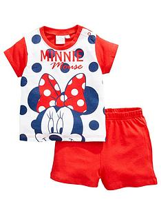 minnie-mouse-baby-girl-minnie-mouse-spotty-shortie-pjs-red