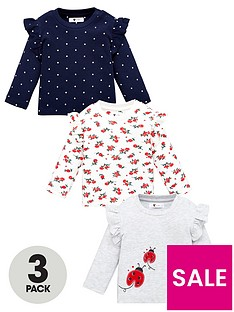v-by-very-baby-girls-3-pack-ladybird-ruffle-sleeve-tops-multi