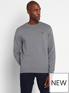 lyle-scott-crew-neck-sweatshirt-mid-greynbsp