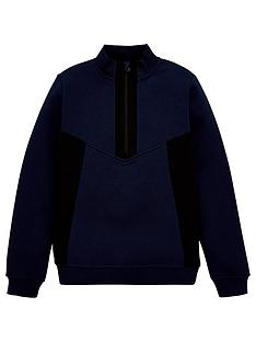 v-by-very-boys-funnel-neck-half-zip-sweatshirt-navy