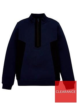 v-by-very-boys-funnel-neck-half-zip-sweatshirt-navy