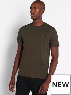 lyle-scott-plain-t-shirt-khaki