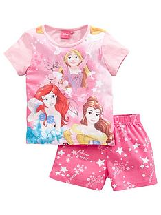 disney-princess-girls-full-front-print-shortie-pjs-pink