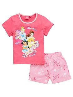 disney-princess-girls-shortie-pjs-pink