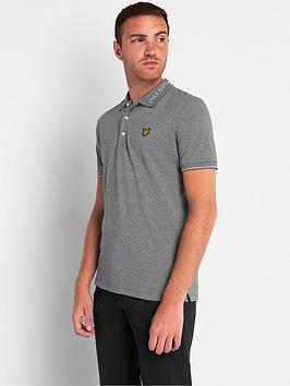 lyle-scott-branded-collar-polo-shirt-mid-grey-marl