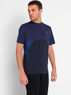 lyle-scott-cut-and-sew-t-shirt-navynbsp