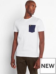 lyle-scott-lyle-scott-contrast-pocket-t-shirt