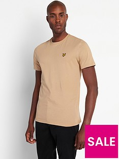 lyle-scott-plain-t-shirt-beige