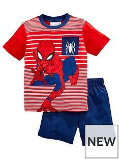spiderman-boysnbspstripe-shortie-pjs-blue
