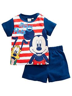 mickey-mouse-baby-boy-mickey-mouse-and-pluto-stripe-shortie-pjs-navy