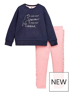 mini-v-by-very-girls-unicorn-sweat-and-frill-legging-set-navy-pink
