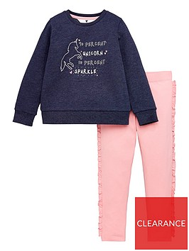 mini-v-by-very-girls-unicorn-sweat-and-frill-legging-set-navy-pink