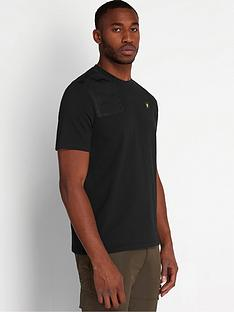 lyle-scott-casuals-ripstop-detail-t-shirt-black