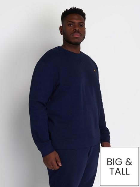 lyle-scott-crew-neck-sweatshirt-navy