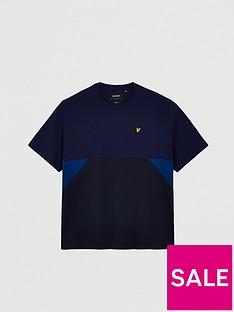 lyle-scott-big-cut-and-sew-t-shirt-navy