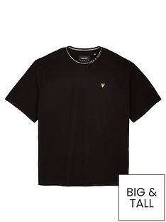 lyle-scott-big-amp-tallnbspbranded-ringer-t-shirt-blacknbsp