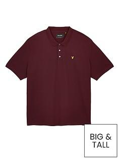 lyle-scott-big-amp-tallnbsppolo-shirt-burgundynbsp