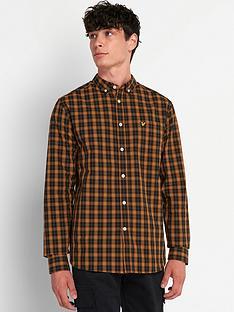 lyle-scott-check-poplin-shirt-caramel